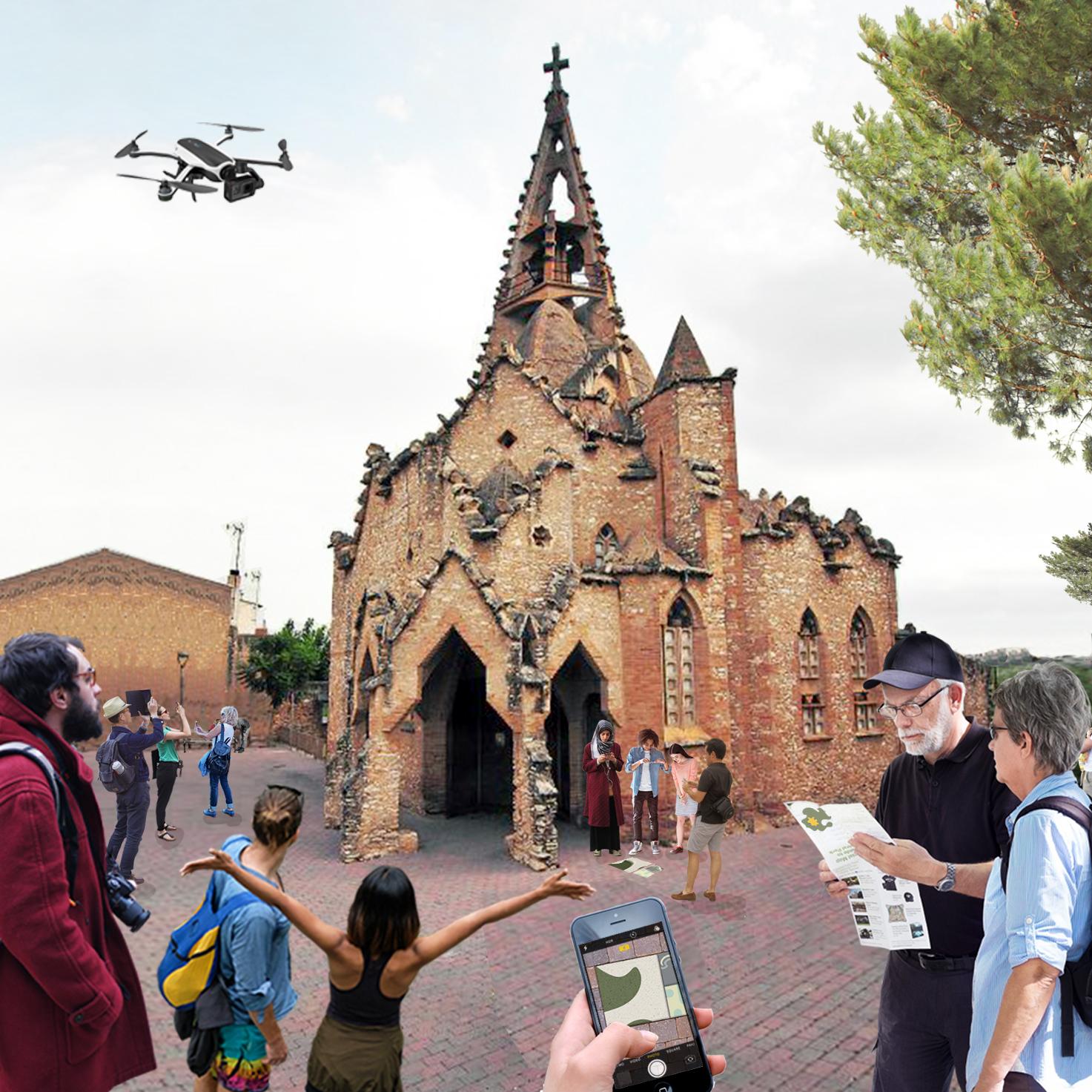 Església de Vistabella, obre del arquitecte Jujol.