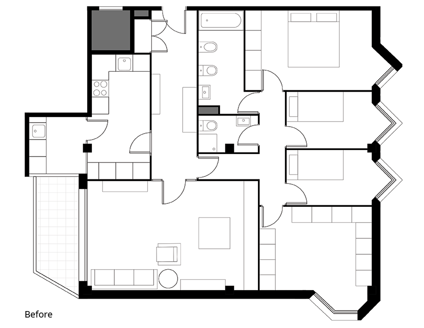 COFO-M&I Apartment-Sabadell-floorplan-before